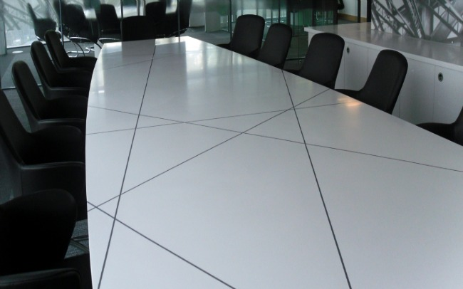 HiMacs Boardroom Table Newcastle Upon Tyne Multi Surface - Corian conference table